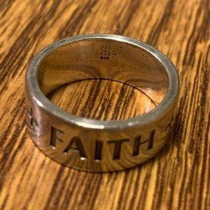 James Avery FAITH * HOPE * LOVE Ring